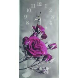 Nástenné hodiny kvety 330N