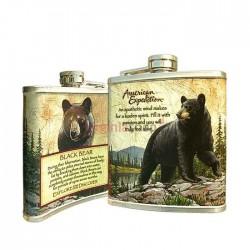 Fľaša ploskačka medveď