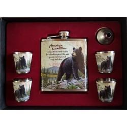 Fľaša ploskačka sada 302 medveď
